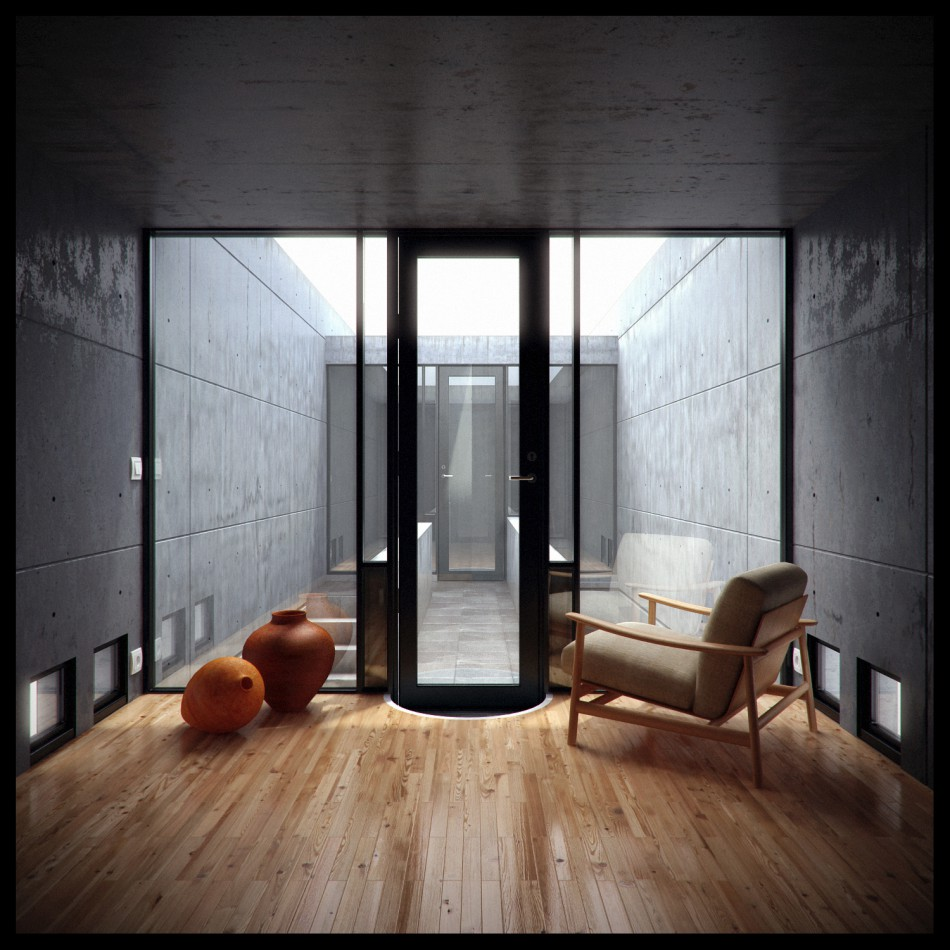 House of the day azuma house by tadao ando journal the modern house Interior design ideas for row houses