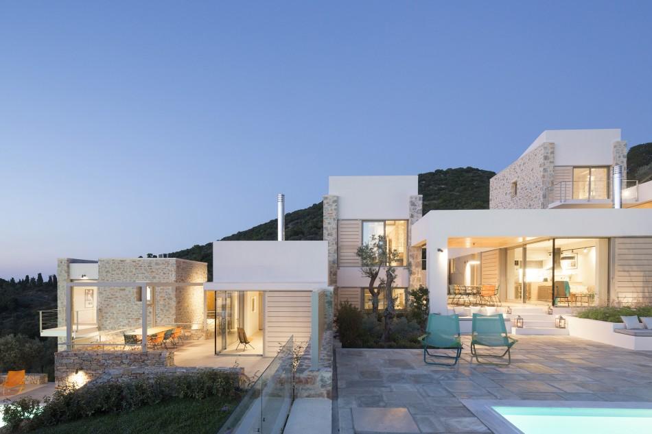 Modern Greek Homes kechria villas, skiathos, greece sleeps 8 | the modern house