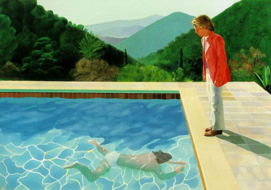 Inspiration a bigger splash journal the modern house - David hockney swimming pool paintings ...