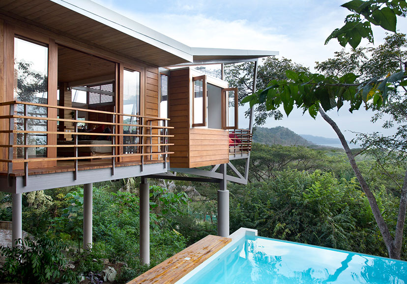 The floating house playa hermosa costa rica sleeps 7 for Modern house holiday lets